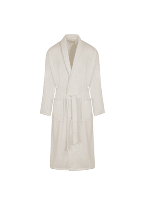 White Cotton Triton Robe