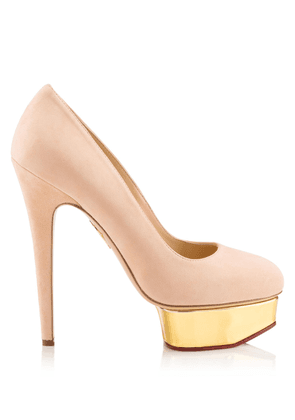 Charlotte Olympia Pumps Women - DOLLY BLUSH AND GOLD Metallic calf/suede 38,5