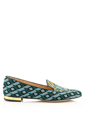 Charlotte Olympia Sale Women - LADY LIBERTY SLIPPER MULTI COLOUR EMBROIDERED CANVAS 35