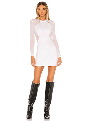 superdown Lucy Sheer Back Dress in White. Size M,S,XL,XS.