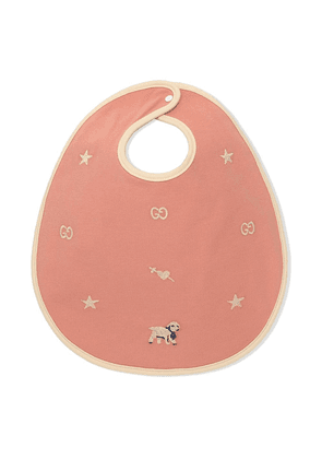Gucci Kids embroidered bib - PINK