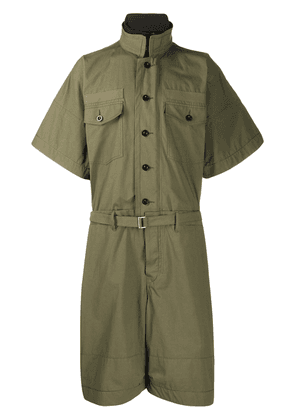 Sacai oversized utility jumpsuit - Green
