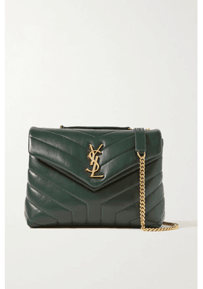 SAINT LAURENT - Loulou Small Quilted Leather Shoulder Bag - Dark green