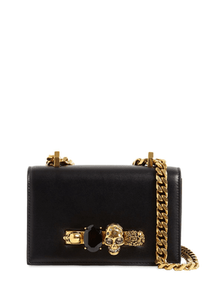 Mini Jeweled Leather Satchel Bag