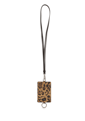 Dauphine Leopard Print Card Holder