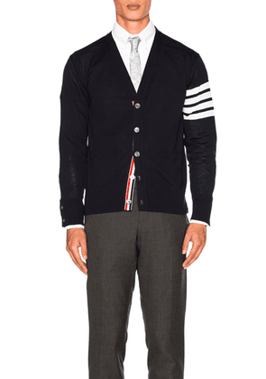Thom Browne Classic Merino Cardigan in Navy - Blue. Size 1 (also in ).