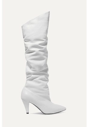Givenchy - Leather Knee Boots - White