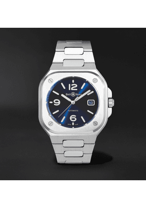 Bell & Ross - BR 05 Blue Steel Automatic 40mm Satin-Polished Stainless Steel Watch, Ref. No. BR05A-BLU-ST/SST - Men - Blue
