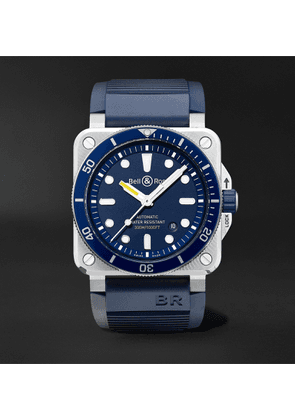 Bell & Ross - BR 03-92 Diver Automatic 42mm Stainless Steel and Rubber Watch, Ref. No. BR0392-D-BU-ST/SRB - Men - Blue