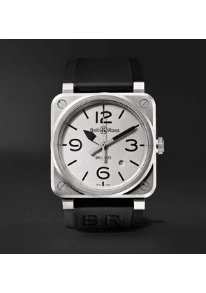 Bell & Ross - BR 03-92 Horoblack Automatic 42mm Steel and Rubber Watch - Men - White