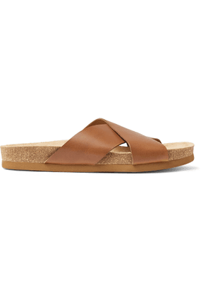 A.P.C. - Leather Slides - Brown