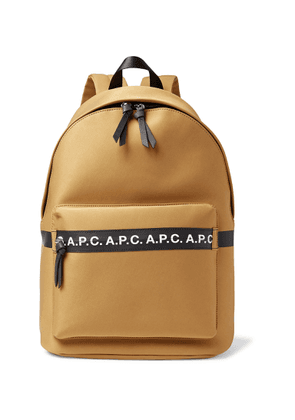 A.P.C. - Savile Logo-Trimmed Tech-Canvas Backpack - Men - Brown