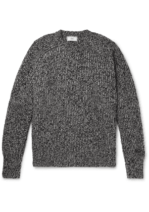 AMI - Ribbed Mélange Wool Sweater - Gray