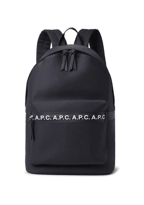 A.P.C. - Savile Logo-Trimmed Tech-Canvas Backpack - Men - Blue