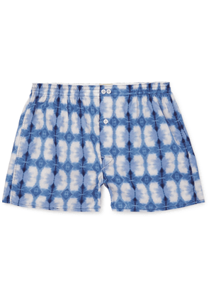 Anonymous Ism - Tie-dyed Cotton Boxer Shorts - Blue