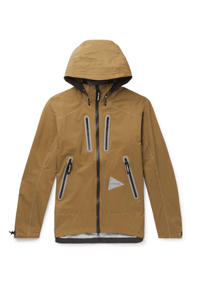 And Wander - E Vent Nylon-ripstop Hooded Jacket - Brown