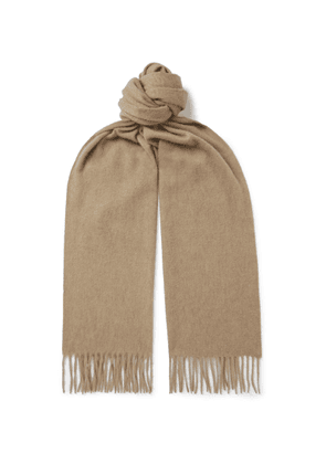 Begg & Co - Arran Fringed Cashmere Scarf - Neutrals