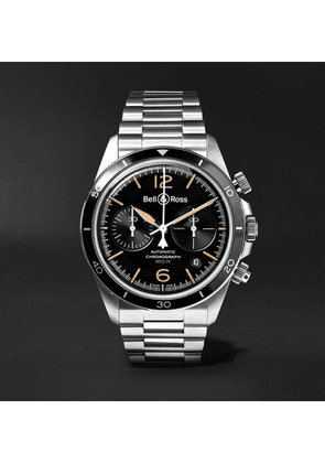 Bell & Ross - Heritage Automatic Chronograph 41mm Stainless Steel Watch, Ref. No. BRV294-HER-ST/SST - Men - Black