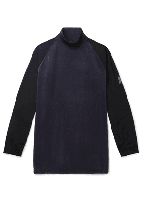 And Wander - Fleece And Shell Rollneck Base Layer - Blue