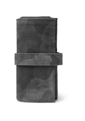 Bamford Watch Department - Camouflage-Print Suede Watch Roll - Men - Black