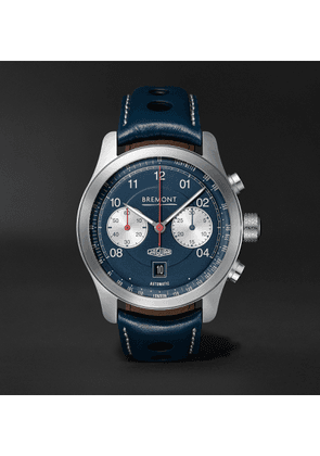 Bremont - Limited Edition Jaguar D-type Automatic Chronograph 43mm Stainless Steel And Leather Watch - Blue