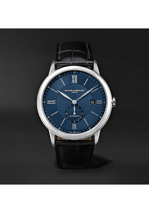 Baume & Mercier - Classima Automatic 42mm Stainless Steel and Alligator Watch - Men - Blue