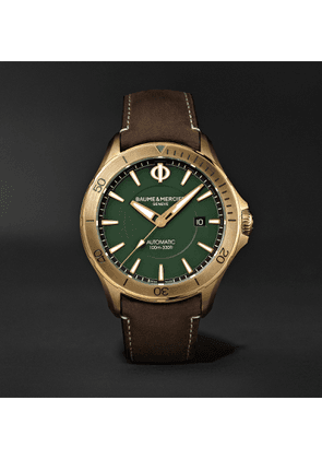 Baume & Mercier - Clifton Club Automatic 42mm Bronze and Suede Watch, Ref. No. M0A10503 - Men - Green