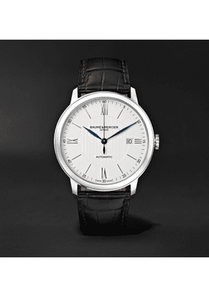 Baume & Mercier - Classima Automatic 40mm Stainless Steel and Alligator Watch, Ref. No. M0A10214 - Men - White
