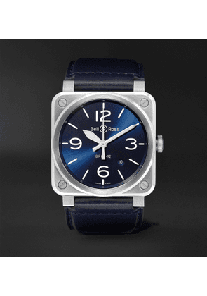 Bell & Ross - BR 03-92 Automatic 42mm Steel and Leather Watch - Men - Blue