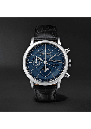 Baume & Mercier - Classima Automatic Chronograph 42mm Stainless Steel and Alligator Watch, Ref. No. M0A10484 - Men - Blue