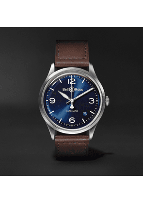 Bell & Ross - BR V1-92 Automatic 38.5mm Steel and Leather Watch - Men - Blue