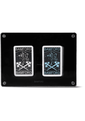 BAMFORD WATCH DEPARTMENT - Two-Pack Illustrated Playing Cards Decks - Men - Black