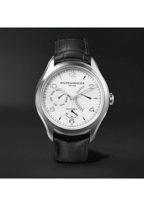 Baume & Mercier - Clifton Automatic 43mm Stainless Steel and Alligator Watch, Ref. No. 10449 - Men - White