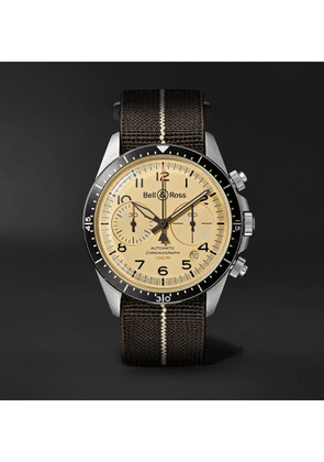 Bell & Ross - BR V2-94 Automatic Chronograph 41mm Stainless Steel and Canvas Watch, Ref. No. BRV294-BEI-ST/SF - Men - Neutrals