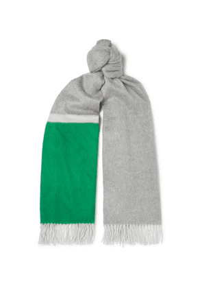 Begg & Co - Arran Fringed Cashmere Scarf - Green