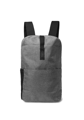 Brooks England - Dalston Small Leather-trimmed Tex Nylon Ripstop Backpack - Gray