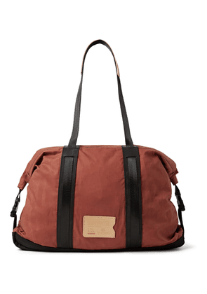 Bleu de Chauffe - Barda Leather-trimmed Waxed Cotton-ripstop Tote Bag - Red