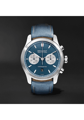 Bremont - Zurich Automatic Chronograph 42mm Dlc-coated Stainless Steel And Kevlar Watch, Ref. No. Ch_mo_034_06_l - Blue
