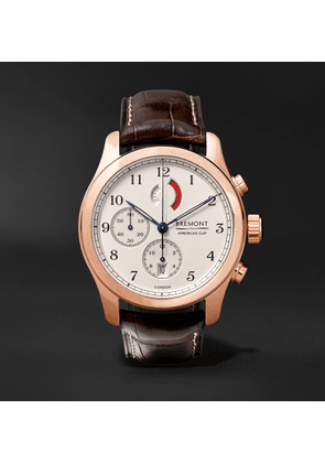 Bremont - America's Cup Regatta Chronograph 43mm Rose Gold and Alligator Watch, Ref. No. AC-R/RG - Men - Rose gold