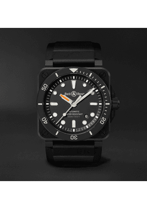Bell & Ross - BR 03-92 Diver Automatic 42mm Ceramic and Rubber Watch, Ref. No. BR0392-D-BL-CE/SRB - Men - Black