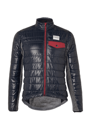 Cafe du Cycliste - Albertine Fleece And Quilted Shell Cycling Jacket - Blue