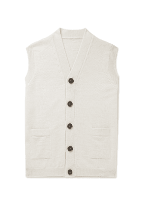 Connolly - Goodwood Wool and Cashmere-Blend Sweater Vest - Men - Neutrals