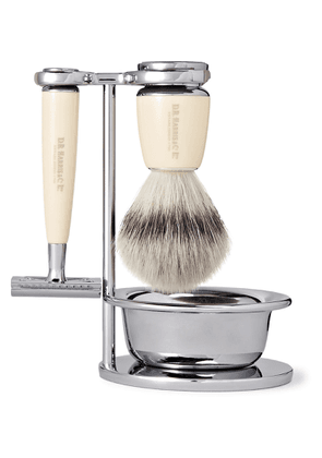 D R Harris - Fusion Chrome and Resin Four-Piece Shaving Set - Men - Colorless