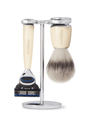 D R Harris - Safety Chrome and Resin Three-Piece Shaving Set - Men - Colorless