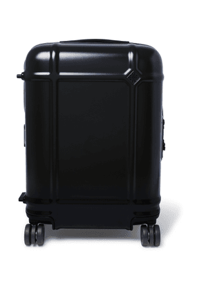 Fabbrica Pelletterie Milano - Globe Spinner 55cm Leather-trimmed Polycarbonate Carry-on Suitcase - Blue
