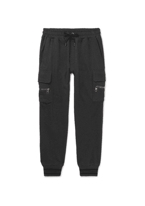 Dolce & Gabbana - Tapered Loopback Cotton-Jersey Sweatpants - Men - Gray