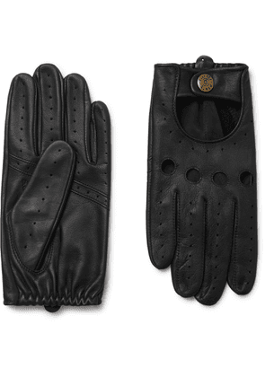 Dents - Silverstone Touchscreen Leather Driving Gloves - Black