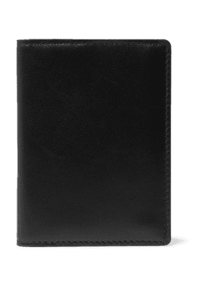 Common Projects - Logo-Print Leather Bifold Wallet - Men - Black