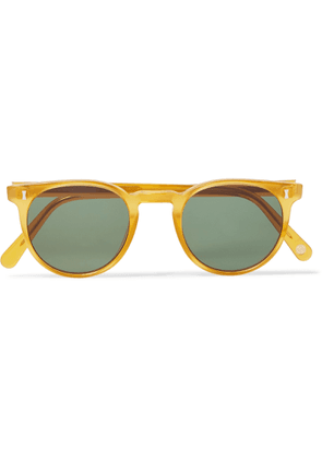 Cubitts - Herbrand Round-frame Acetate Sunglasses - Yellow