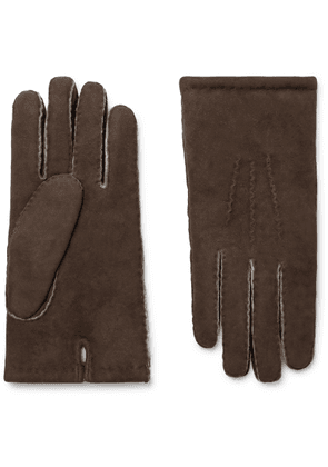 Dents - Shearling Gloves - Brown
